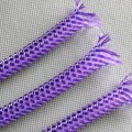 Deluxe PET PP Cotton Braided Sleeving (Purple/White 8mm)
