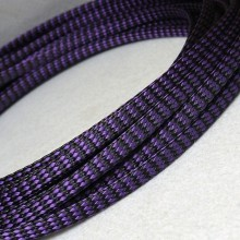 Deluxe PET PP Cotton Braided Sleeving (Purple 4mm)