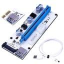 Premium True USB 3.0 1x to 16x PCI-E Extender Riser Card Cable (White)