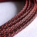 Deluxe High Density Weave Black/Red Cable Sleeve (4mm)