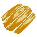 Car Door Edge Guards Anti-collision Scratch Protection Strip Bumpers (Yellow)