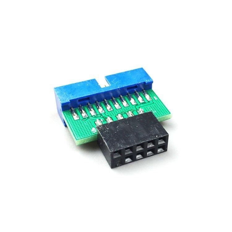 USB 2.0 10-Pin Female to USB 3.0 20-Pin Male Internal Header Converter