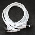 Corsair / Seasonic Custom PSU Modular Cable Set (White Electrical Wires)