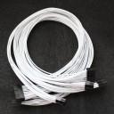 Corsair / Seasonic Custom PSU Modular Cable Set (White Electrical Wires)
