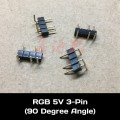 RGB 5V LED Light Strip 3 Pin Male to Male 90 Degree Angled Connector