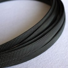 Deluxe High Density Weave Black Cable Sleeve (10mm)