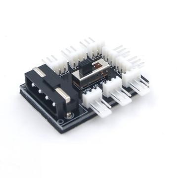 Molex Power Distribution PCB 8-Way 3-Pin Block Fan Hub Power Splitter