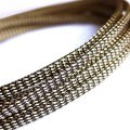 Deluxe High Density Weave Black/Gold Cable Sleeve (6mm)