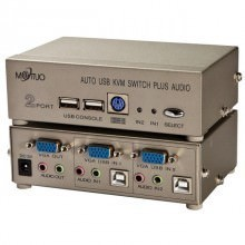 Maituo Auto USB KVM 2 Port Switch Plus Audio (MT-271UK-C)