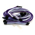 Rosewill Photon 1200 Single Sleeved Modular Cable Set (White/Purple)