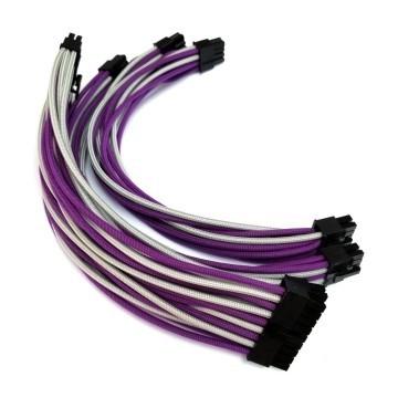Corsair SF600 SF450 Premium Single Sleeved Modular Cable Set (Grey/Purple)