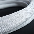 Deluxe High Density Weave White/Silver Cable Sleeve (10mm)