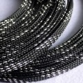 Deluxe High Density Weave Black/Silver Cable Sleeve (6mm)