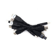 Ultra Short USB 3.0 Type A Male to Male Data Cable 15cm Black