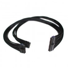 Seasonic X / Platinum Series Individually Sleeved Modular Cable (ATX Main Mother Board Power Connector 24 pin) All Black