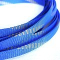 Deluxe High Density Weave Blue/Gold Cable Sleeve (12mm)