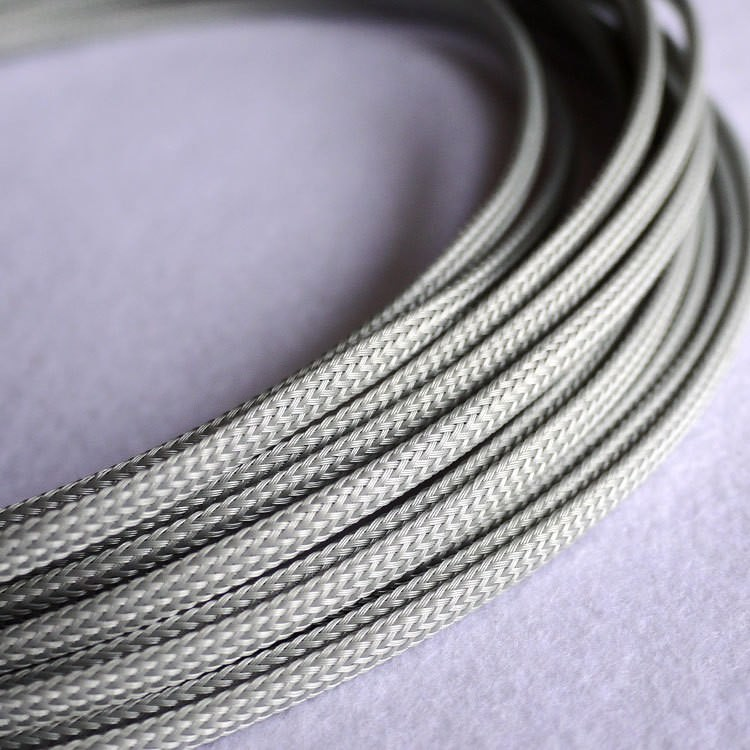 Deluxe High Density Weave Grey Silver Cable Sleeve (4mm) - modDIY.com