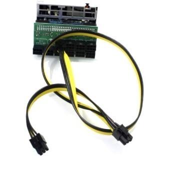 Bitcoin Ethereum Mining 6 Pin to 6+6 Pin GPU PCIE Power Modular Cable