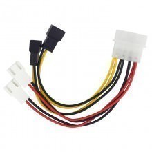 4-Pin IDE Power Connector to 4 x 3-Pin Fan Connectors (5V, 7V, 12V)