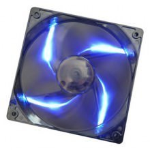PC Cooler 120mm x 25mm Blue LED Black Fan (1200RPM 18dBA 47CFM)