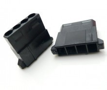 modDIY Standard 4-Pin Female Connector (Black) with Pins