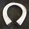 SilverStone Strider Gold 1000W Single Sleeved Power Supply Modular Cable 24-Pin - White