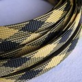Deluxe High Density Weave Black/Yellow Cable Sleeve (12mm)