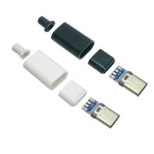 USB 3.1 Type-C USB-PD PCB Male Connector with Housing (USB 2.0 PCB)