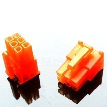 6-Pin PCI-Express Power Female Connector w/ Pins - Orange