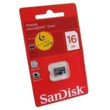 Sandisk 16GB 16G Micro SDHC Class 4 TF Memory Card