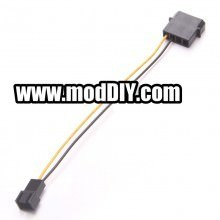 4-Pin Molex to Single 3-Pin Fan Cable Adapter (15cm)