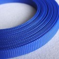 Deluxe High Density Weave Blue Cable Sleeve (18mm)