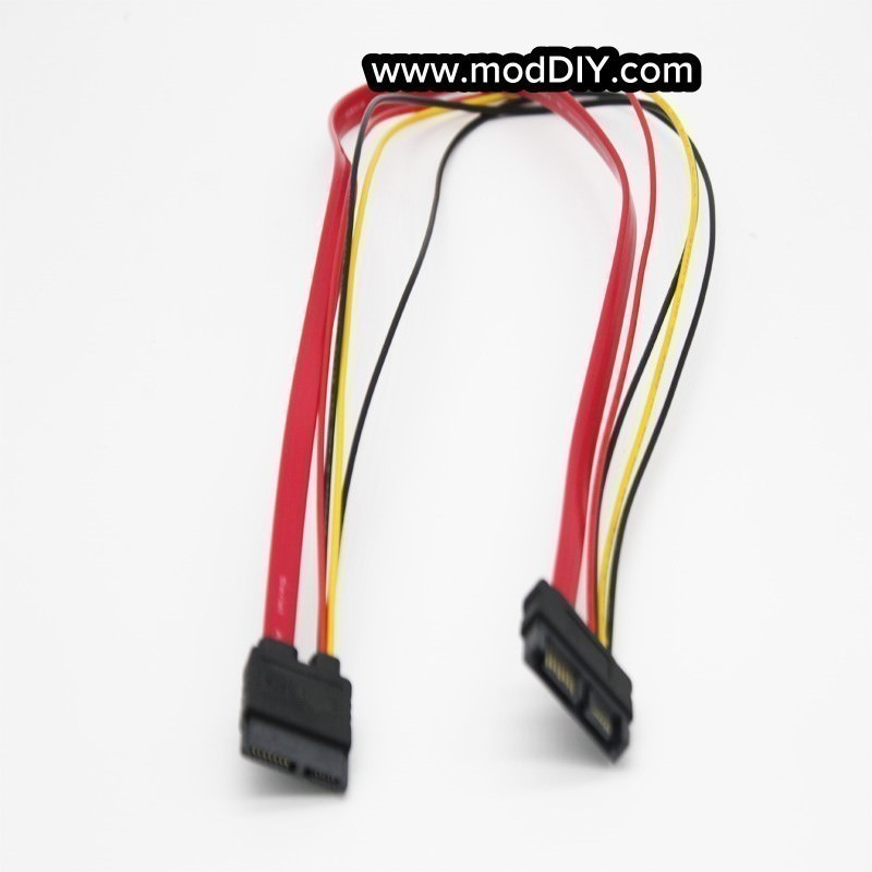 SATA Data Power 6-Pin + 7-Pin Slimeline Extender Extension Cable