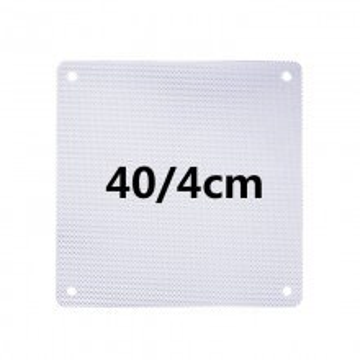 White PVC Ultra Thin 0.45mm Computer Case Fan Dust Filter 4cm