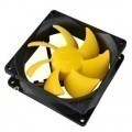 PC Cooler 90mm x 25mm Yellow Fan (1300RPM 18dBA 31CFM)