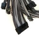 EVGA SuperNova 1000 P2 Premium Single Sleeved Modular Cables Set (Black/Silver)