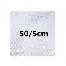 White PVC Ultra Thin 0.45mm Computer Case Fan Dust Filter 5cm