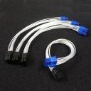 Silverstone ST75F-P Premium Silver Wire 8-Pin to 6+2-Pin PCI-E Modular Cable (20cm)