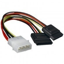 4-Pin Molex to Dual SATA Power Adapter Cable
