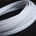 Deluxe High Density Weave White/Silver Cable Sleeve (12mm)