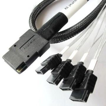 Amphenol Mini-SATA Cable SFF-8087-4*SATA 6Gbps (75cm)