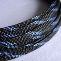 Deluxe High Density Weave Black/Blue Cable Sleeve (8mm)