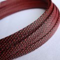 Deluxe High Density Weave Black/Red Cable Sleeve (12mm)