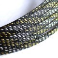 Deluxe High Density Weave Black/Gold/Silver Cable Sleeve (6mm)
