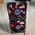 3.5 Bay Case Fan Cooler Acrylic Mounting Kit (Dual 8cm Fans)