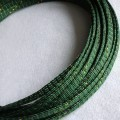 Deluxe PET PP Cotton Braided Sleeving (Green/Gold 8mm)