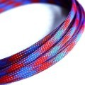 Deluxe High Density Weave Blue/Red Cable Sleeve (6mm)