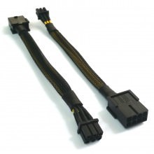 Special Mini Low-Profile 8-Pin to 6-Pin PCI-E Extension Cable (15cm)
