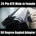 PSU 24-Pin ATX Connector Male to Female 90 Degree Angled Adapter