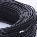 FEP Silver Plated Copper Wire (Cu/Ag 18AWG) - Black